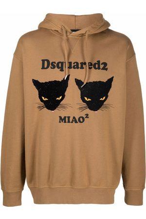 Dsquared2 Men Hoodies - Cat-print slogan hoodie