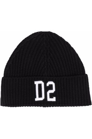 Dsquared2 Kids Boys Beanies - Embroidered-logo beanie