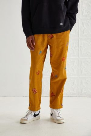 Urban Outfitters UO Embroidered Varsity Letter Corduroy Beach Pant
