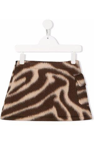Douuod Kids Zebra-pattern mini skirt