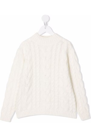Douuod Kids Cable-knit crew-neck jumper