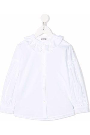 Il Gufo Ruffled-collar shirt