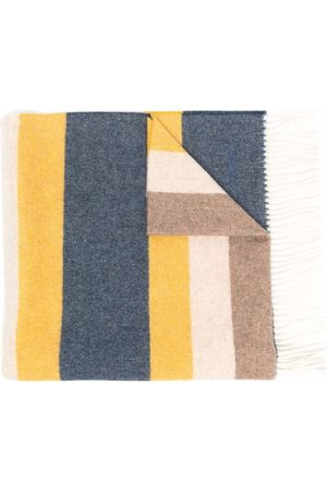 Church's Men Scarves - Colour-block striped-pattern fringed scarf
