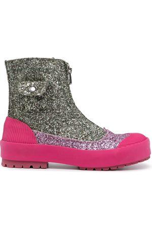 JW Anderson Duck glitter-detail boots
