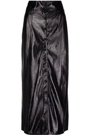 Isabel Marant Women Leather Skirts - Faux leather midi skirt
