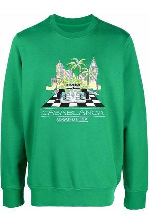 Casablanca Men Sweatshirts - Logo-print organic cotton sweatshirt