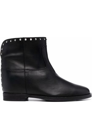 Via Roma 15 Studded-leather ankle boots