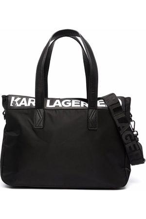 Karl Lagerfeld Kids Logo-print zipped changing bag