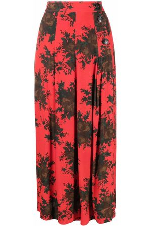 GANNI Women Printed Skirts - Floral print high-waisted skirt