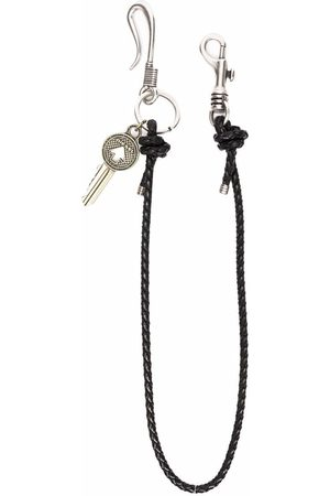 Diesel Men Keychains - A-PASS leather keyring