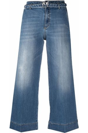 Pinko Cropped wide-leg jeans