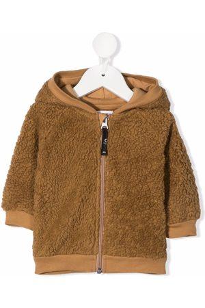 Molo Kids Hooded shearling jacket