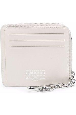 Maison Margiela Four-stitch logo zip-up wallet