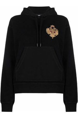 Dsquared2 Women Hoodies - Embroidered motif hoodie