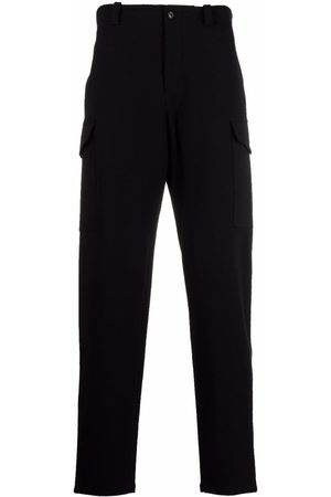 Emporio Armani Men Straight Leg Pants - Mid-rise tapered trousers