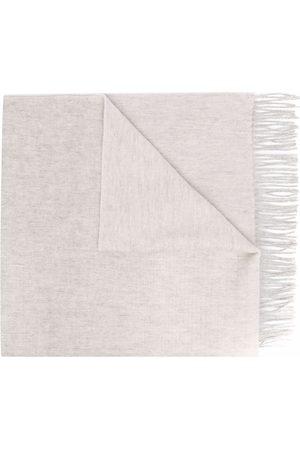 PAUL SMITH Fringe-hem scarf - Neutrals