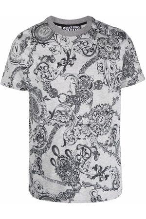 Versace Jeans Couture Men Short Sleeve - Barocco-print short-sleeve T-shirt - Grey