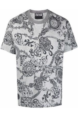 Versace Jeans Couture Men Short Sleeve - Barocco print short-sleeve T-shirt - Grey