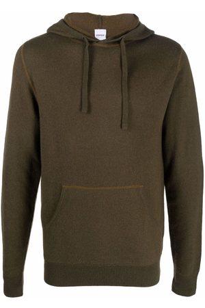 Aspesi Men Hoodies - Drawstring wool hoodie