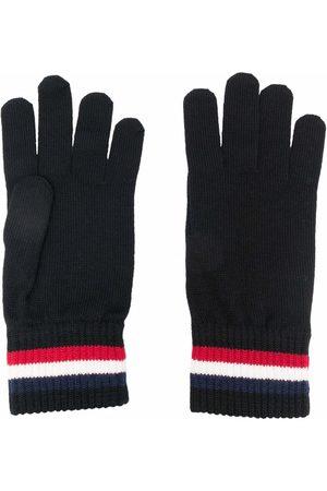 Moncler Logo-stripe knit gloves