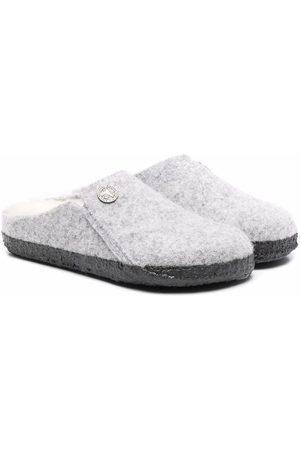 Birkenstock Kids Slip-on shearling slippers - Grey