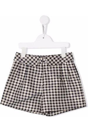 Abel & Lula Monochrome checked shorts - Neutrals
