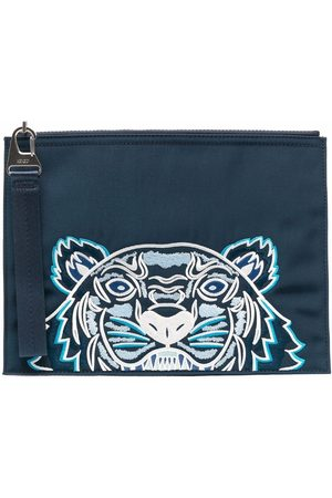 Kenzo Tiger-embroidered zipped pouch