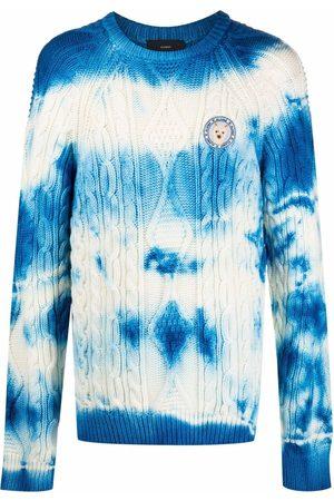 Alanui Men Sweatshirts - Tie-dye cable-knit jumper