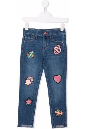 Billieblush Multi patches slim-fit jeans