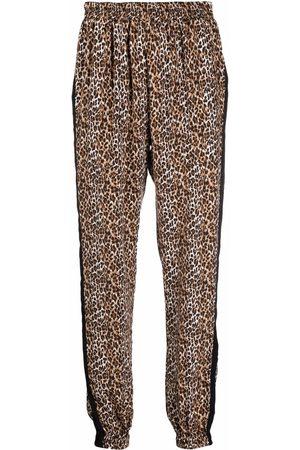 Gold Hawk Leopard print trousers - Neutrals