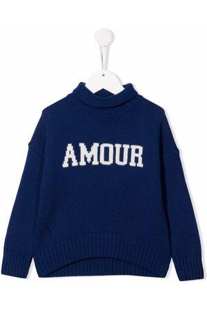 Zadig & Voltaire Kids Girls Turtlenecks - Intarsia-knit roll-neck jumper