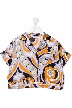 Emilio Pucci Junior Girls Short sleeves - Abstract-print short-sleeved shirt