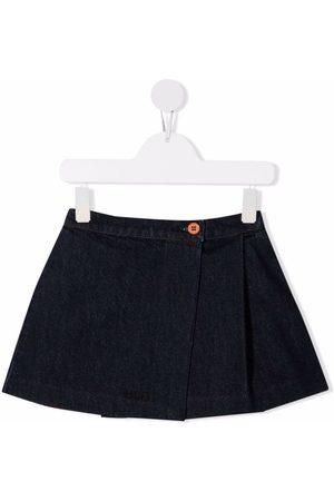 PHILOSOPHY DI LORENZO SERAFINI Girls Mini Skirts - Pleated denim mini skirt