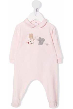 Il Gufo Logo-print stretch-cotton babysuit