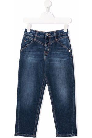 Calvin Klein Kids Girls Straight - Mid-rise straight-leg jeans