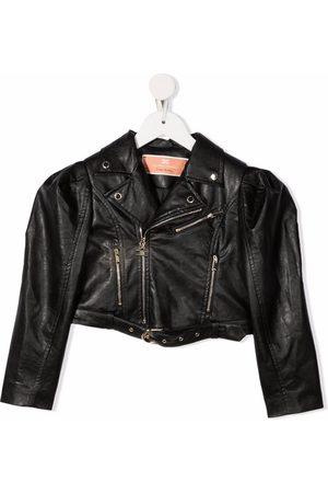 Elisabetta Franchi La Mia Bambina Girls Bomber Jackets - Cropped biker jacket