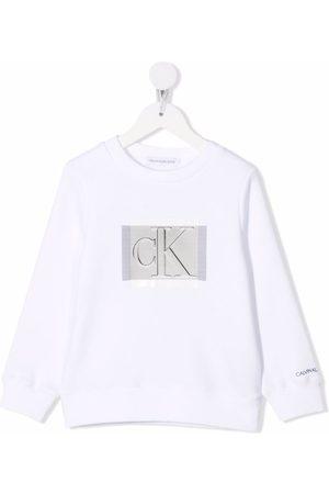 Calvin Klein Logo-print crew-neck sweatshirt
