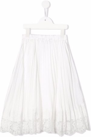 ERMANNO SCERVINO JUNIOR Lace-trimmed pleated skirt