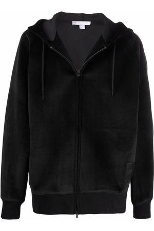 Y-3 Velour zip-up hoodie