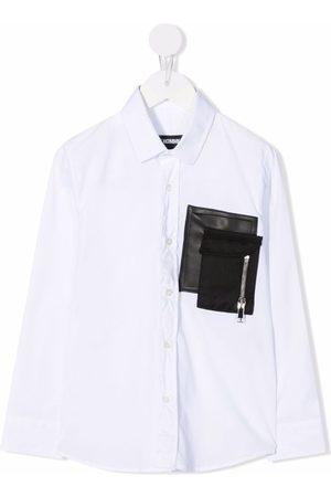 LES HOMMES KIDS Statement pocket shirt