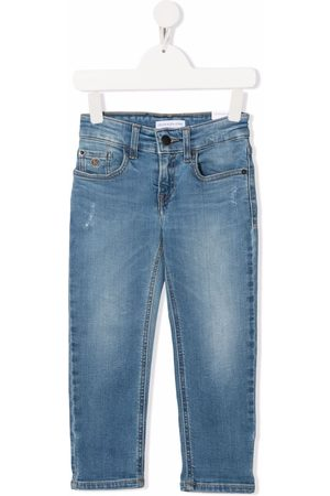Calvin Klein Boys Straight - Mid-rise straight-leg jeans