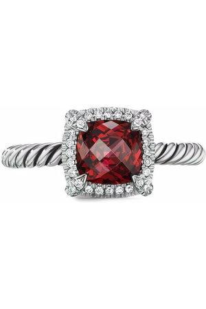 David Yurman Sterling Châtelaine rhodolite and diamond ring
