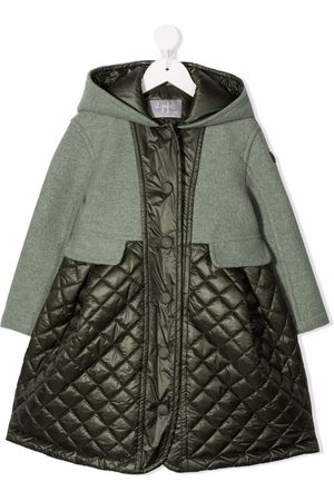 Il gufo Empire-line panelled coat