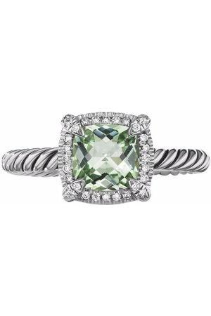 David Yurman Sterling Châtelaine prasiolite and diamond ring