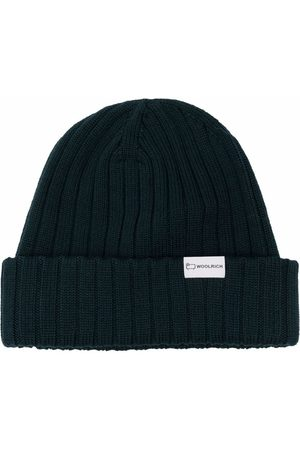 Woolrich Men Beanies - Ribbed-knit merino beanie