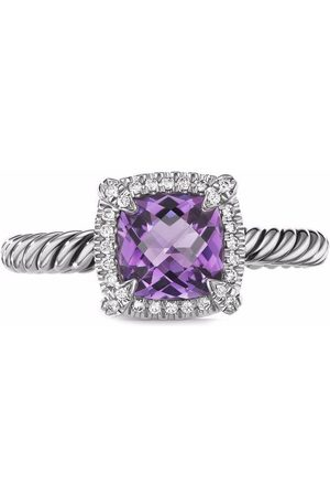 David Yurman Sterling Châtelaine amethyst and diamond ring