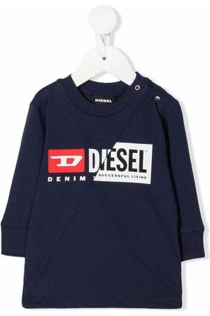 Diesel Kids Sweatshirts - TDiegoCutyb ML double-logo cotton sweatshirt