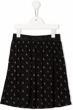 Calvin Klein Kids Logo-print pleated skirt