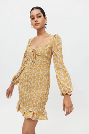 Glamorous Women Party Dresses - Floral Smocked Mini Dress