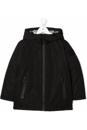 Il Gufo Zip-up hooded bomber jacket